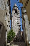 Der Kirchturm von Vrbnik
