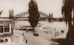 Anlegestelle der Köln-Düsselderfer Dampfschiffgesellschaft um 1925, Hauptbahnhof um, Bildnummer: bbv_00797