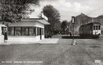 Bad Honnef, Endhaltestelle der Siebengebirgsbahn, Fotografie um 1950,  Bildnummer: bbv_01092