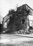Stumpf des Halbrundturms, an den das Sterntor angebaut wurde, Fotografie um 1870, Bildnummer: bbv_00092