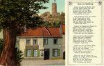 Zur Lindenwirtin Aennchen in Godesberg, Chromolithografie um 1910, Bildnummer: bbv_00337