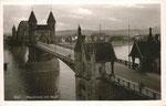 Alte Rheinbrücke um 1940, Bildnummer: bbv_00755