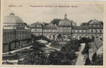 Poppelsdorfer Schloss und Botanischer Garten (links das 1873 erbaute Palmenhaus) um 1905, Bildnummer: bbv_00725