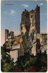 Ruine Drachenfels, Heliochromdruck um 1900, Bildnummer: bbv_00955