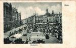 Marktplatz um 1900, Bildnummer: bbv_01070