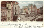 Marktplatz, Heliochromdruck um 1900, Bildnummer: bbv_00466