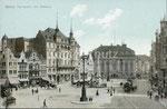 Marktplatz um 1900, Bildnummer: bbv_00624