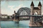 Alte Rheinbrücke, Heliochromdruck um 1905, Bildnummer: bbv_00417