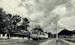 Bad Honnef, Endhaltestelle der Siebengebirgsbahn, Fotografie um 1950,  Bildnummer: bbv_01091