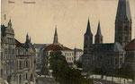Münsterplatz, Heliochromdruck um 1910, Bildnummer: bbv_00654