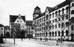 Bottlerplatz mit dem neuerbauten Postgebäude, Fotografie um 1909, Bildnummer: bbv_00094