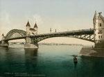 Alte Rheinbrücke, Photochromie von 1898, Bildnummer: bbv_00006
