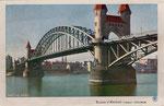 Alte Rheinbrücke, um 1910, Bildnummer: bbv_01236