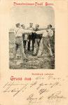 """Die bönnschen Originale """"Bramson und Munkes"""" beim """"Dienstmänner-Duell"""" (1898), Bildnummer: bbv_00161"""