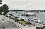 Kennedybrücke, kolorierter Lichtdruck um 1950, Bildnummer: bbv_00421