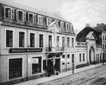 Eingang zur alten Beethovenhalle, Fotografie um 1910, Bildnummer: bbv_00023