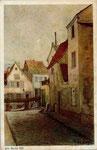 Kallengasse (untergegangen), Aquarell um 1880, Bildnummer: bbv_00918