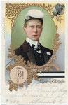 Kronprinz Wilhelm, der spätere Kaiser, als Student in Bonn (Karte von 1901), Bildnummer: bbv_00164