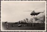 Brandereignis am Hubschrauberlandeplatz am Römerbad, Fotografie von 1950, Bildnummer: bbv_01211