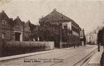 """Ehem. Jutespinnerei am Bonner Talweg 106, unter den Franzosen """"Quartier des autos"""", um 1920, Bildnummer: bbv_00526"""