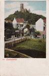 Die Godesburg, Autochromdruck um 1900, Bildnummer: bbv_00364