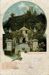 Zur Lindenwirtin Aennchen in Godesberg, Autochromdruck um 1900, Bildnummer: bbv_00343