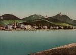 Blick auf Königswintert, Photochromie um 1880, Bildnummer: bbv_01045