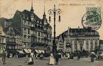 Marktplatz um 1900, Bildnummer: bbv_00614