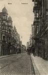 Poststraße mit Blick auf Hauptbahnhof, um 1920, Bildnummer: bbv_01223