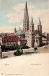 Martinsplatz, kolorierter Lichtdruck um 1900, Bildnummer: bbv_00396