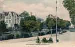 Brunnenallee, Heliochromdruck um 1905, Bildnummer: bbv_00359