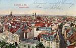 Remigiusstraße von oben, Autochromdruck um 1905, Bildnummer: bbv_00408