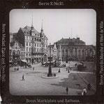 Marktplatz um 1900, Glasplatte, Bildnummer: bbv_01098