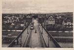 Ein Triebwagen der elektrischen Straßenbahnen auf der alten Rheinbrücke, um 1910, Bildnummer: bbv_00673