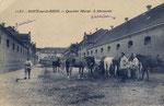"""Ehemalige Husarenkaserne, unter den Franzosen """"Quartier Murat"""" genannt, um 1920, Bildnummer: bbv_00525"""