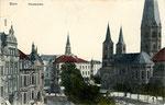 Münsterplatz, Heliochromdruck um 1910, Bildnummer: bbv_00401