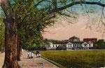 Hofgarten und Akademisches Kunstmuseum, Heliochromdruck um 1910, Bildnummer: bbv_00446