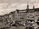 Marktplatz um 1950, Bildnummer: bbv_00615