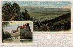 Blick von der Casselsruhe über Godesberg, Heliochromdruck um 1905, Bildnummer: bbv_00333