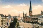 Münsterplatz, Heliochromdruck um 1905, Bildnummer: bbv_00656