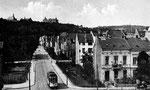 Triebwagen Nr. 35 (?) der elektrischen Straßenbahn auf der Argelanderstraße, um 1908, Bildnummer: bbv_00124