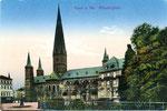 Münsterplatz, Heliochromdruck um 1915, Bildnummer: bbv_00404