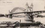 Alte Rheinbrücke, um 1910, Bildnummer: bbv_01233