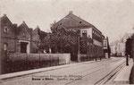 Bonner Talweg 106, das große Gebäude links ist die ehemalige Jutespinnerei Schugt, die damals von den Franzosen beschlagnahmt wurde und als Militärgarage diente, Ansicht von 1920, Bildnummer: bbv_00526