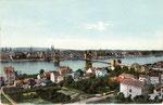 Blick auf die alte Rheinbrücke, Bildnummer: bbv_00320