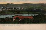 Bad Honnef von Rolandseck gesehen, im Vordergrund Kloster Nonnenwerth, Heliochromdruck um 1900, Bildnummer: bbv_01025