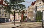 Bottlerplatz, kolorierter Lichtdruck um 1910, Bildnummer: bbv_00324
