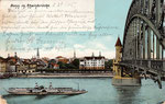 Alte Rheinbrücke, Heliochromdruck um 1905, Bildnummer: bbv_00415