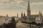 Münsterplatz um 1905, Bildnummer: bbv_01112