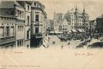 Marktplatz um 1900, Bildnummer: bbv_00609